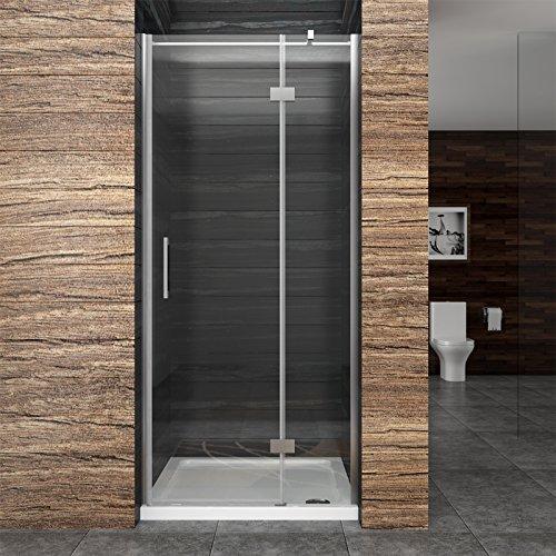 90 195cm duschkabine duschabtrennung 8mm nano echtglas. Black Bedroom Furniture Sets. Home Design Ideas