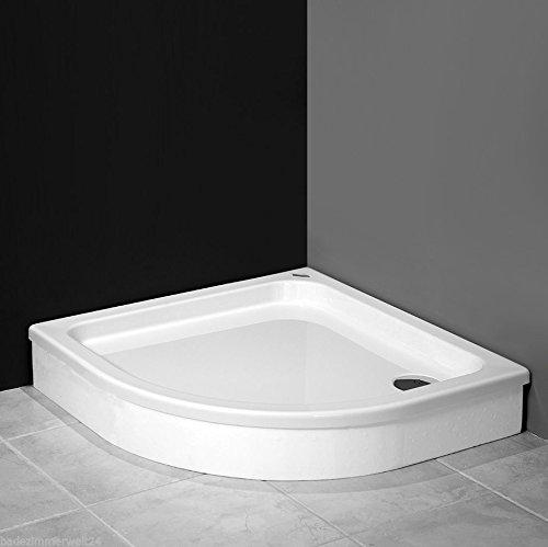 AQUABAD® Duschwanne/Duschtasse mit Styroporträger zum befliesen, Viertelkreis R55 80x80x17 cm
