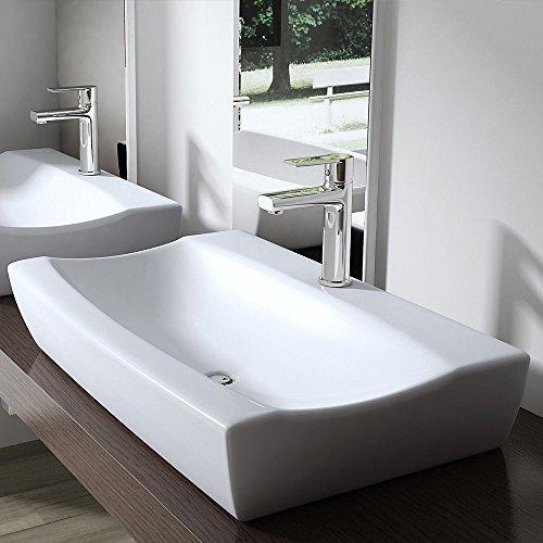 BTH: 63x39,5x11,5 cm Design Aufsatzwaschbecken Brüssel890, aus Keramik, Waschbecken, Waschtisch, Waschplatz, Waschschale