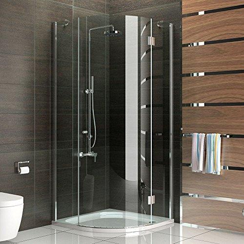 duschkabine viertelkreis rahmenlos echtglas dusche komplett 80x80 x 200 cm h he ca 200 cm. Black Bedroom Furniture Sets. Home Design Ideas