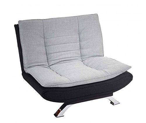 Hikenn Sofa Couchgarnitur Loungesofa grau schwarz Textil verstellbar modern design neu