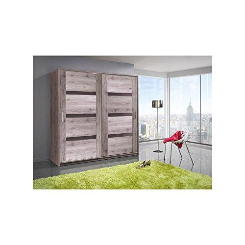 justhome orlando 200 schwebet renschrank kleiderschrank garderobenschrank san remo braun. Black Bedroom Furniture Sets. Home Design Ideas