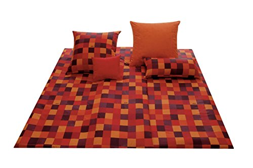 Joop 4003 Mosaic Red Bed Linen Set 80x80cm / 135x200cm