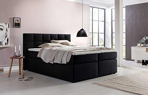mbelfreude boxspringbett bea schwarz 180x200cm inkl. Black Bedroom Furniture Sets. Home Design Ideas