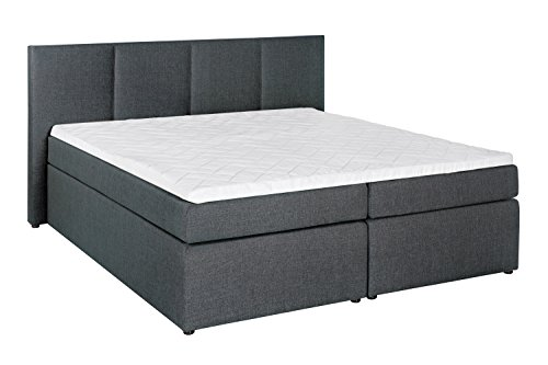 mbelfreude boxspringbett kaz anthrazit 200 200 cm h3. Black Bedroom Furniture Sets. Home Design Ideas