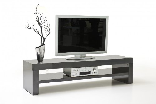 tv board tv bank fernsehtisch mediencenter gina in grau hochglanz lackiert neu 0 m bel24. Black Bedroom Furniture Sets. Home Design Ideas