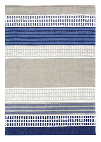 Vallila Pallas Handwoven Rug, Cotton, Blue, 140 x 200 cm
