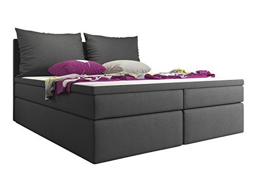trendteam boxspringbett bellante 2x 5 gang bonell federkern matratze inkl 4 cm topper 2. Black Bedroom Furniture Sets. Home Design Ideas