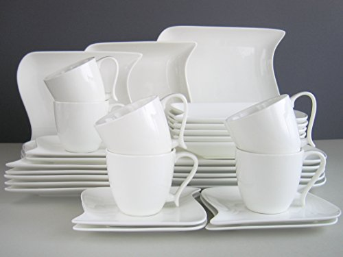 Creatable 18514 Serie, Kombiservice, 30-teilig, ocean weiß