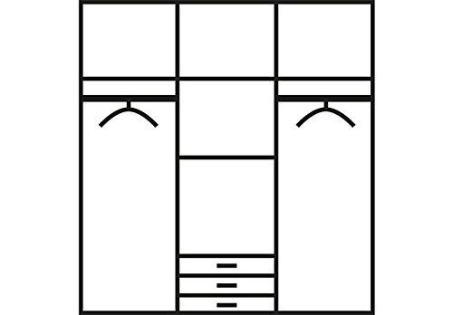 kleiderschrank schrank 568401 wei schwarz hochglanz. Black Bedroom Furniture Sets. Home Design Ideas