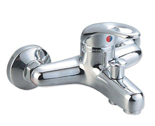 Badewannenarmatur mit Handbrause (Brauseschlauch) Wannen Armatur Einhebelmischer mit Handbrause Badarmatur Wasserhahn Badewanne Badezimmerarmatur