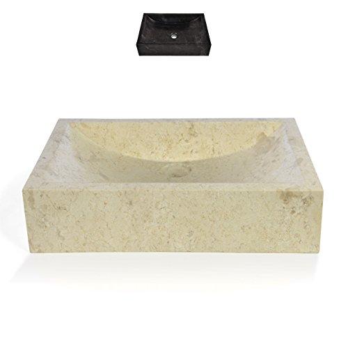 DIVERO Naturstein Aufsatzwaschbecken Handwaschbecken