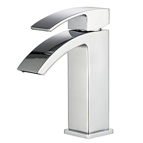 Homfa HF001, Küchen Armatur Küchenarmatur Waschtischarmatur Spultischarmatur Wasserkran Wasserhahn Einhandmischer für Waschtisch Spültsich in Küchen, Badzimmer, WC