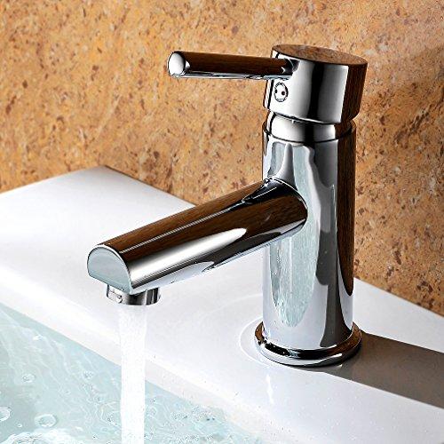 Kinse® Bad Mischbatterie Waschbecken Wasserhahn Waschtischarmatur Einhebelmischer Chrom