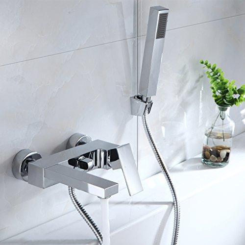 Wannenarmatur Einhebelmischer Armatur Bad Wasserhahn Duschset mit Handbrause