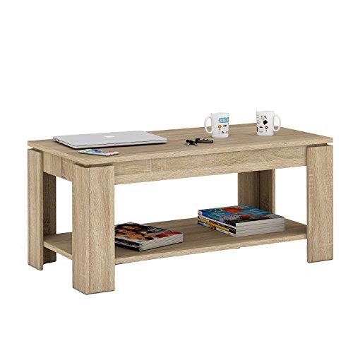 habitdesign 001639 f couchtisch ausfahrbare tischplatte mit integriertem zeitungsst nder. Black Bedroom Furniture Sets. Home Design Ideas