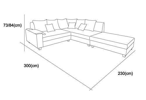 wohnlandschaft cardo mit ottomane rechts in webstoff grau. Black Bedroom Furniture Sets. Home Design Ideas