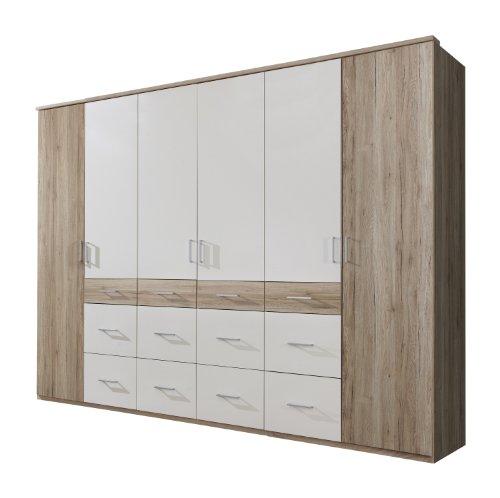 wimex 404542 kleiderschrank 270 210 58 cm 6 t rig mit acht gro en und vier kleinen. Black Bedroom Furniture Sets. Home Design Ideas