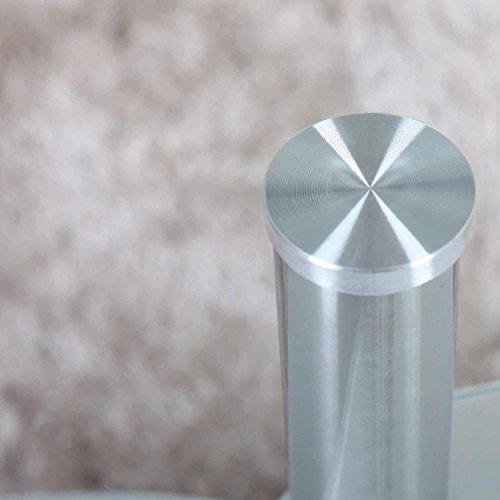 Couchtisch 98x58cm klar glas ablage satiniert for Wohnzimmertisch chrom glas