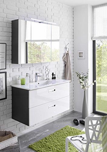 badm bel set manhattan 2 tlg badezimmer set badm bel badezimmerm bel in grau abs wei. Black Bedroom Furniture Sets. Home Design Ideas