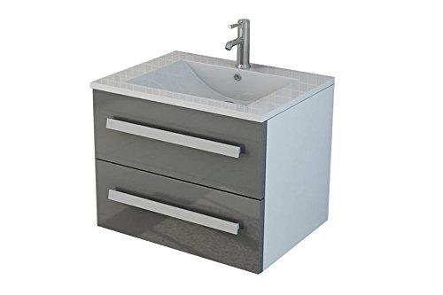badset arosa ii grau inkl soft close mit fronten in hochglanz badm bel waschtisch m bel24. Black Bedroom Furniture Sets. Home Design Ideas