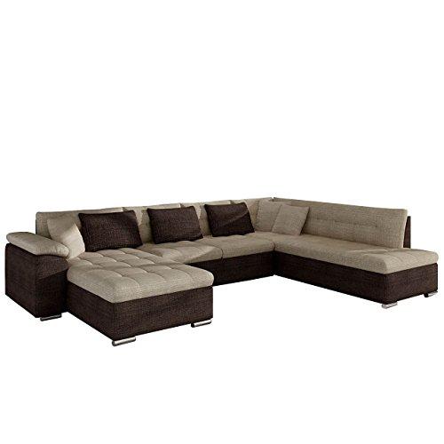 Eckcouch Ecksofa Niko Bis! Design Sofa Couch! mit Schlaffunktion und Bettkasten! U-Sofa Große Farbauswahl! Wohnlandschaft vom Hersteller