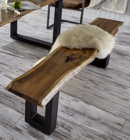 sam massive sitzbank holzbank aus akazie aus echter. Black Bedroom Furniture Sets. Home Design Ideas