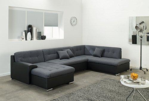 Wohnlandschaft, Couchgarnitur U-Form, ROCKY mit Schlaffunktion 325 x205cm