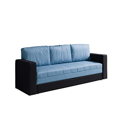 Elegantes sofa calabrini couch mit bettfunktion for Couch mit bettfunktion und bettkasten