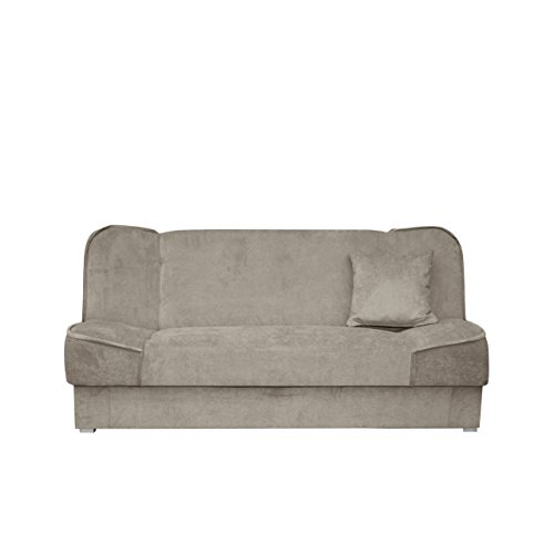 schlafsofa gemini mit bettkasten 3 sitzer sofa couch mit schlaffunktion bettsofa schlafsofa. Black Bedroom Furniture Sets. Home Design Ideas