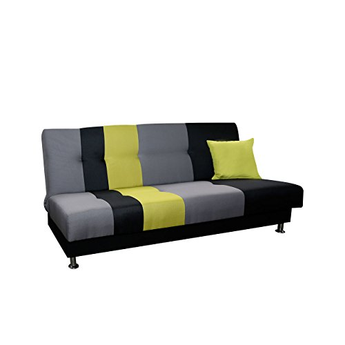 schlafsofa lisa mit bettkasten couch mit schlaffunktion sofa mit bettfunktion bettsofa. Black Bedroom Furniture Sets. Home Design Ideas