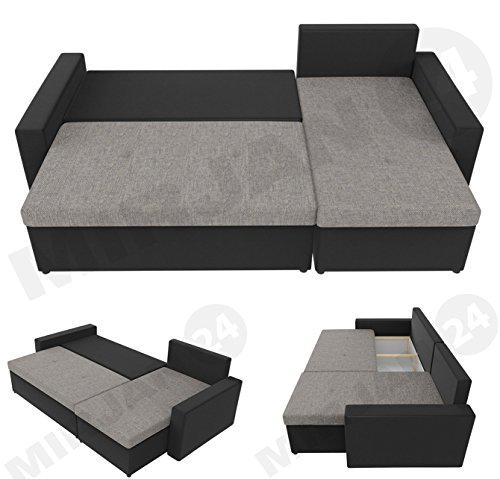 ecksofa picanto loft mit schlaffunktion und bettkasten ma e 224x144 cm schlaffl che 200x130. Black Bedroom Furniture Sets. Home Design Ideas