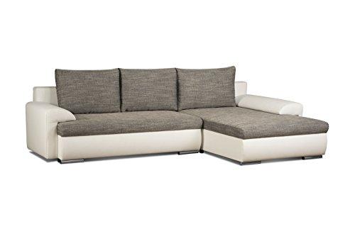 cavadore 5171 polsterecke l form ecksofa schaumstoff grau wei 262 x 163 x 69 cm 0 m bel24. Black Bedroom Furniture Sets. Home Design Ideas