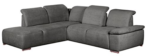 cavadore polsterecke tabagos eckcouch mit ottomane links moderne couch mit sitztiefenverstellung. Black Bedroom Furniture Sets. Home Design Ideas