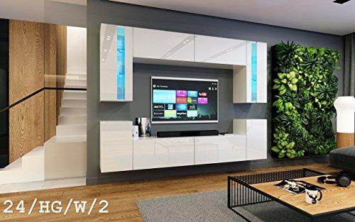 Wohnwand future 24 moderne wohnwand exklusive mediam bel for Exklusive wohnwand