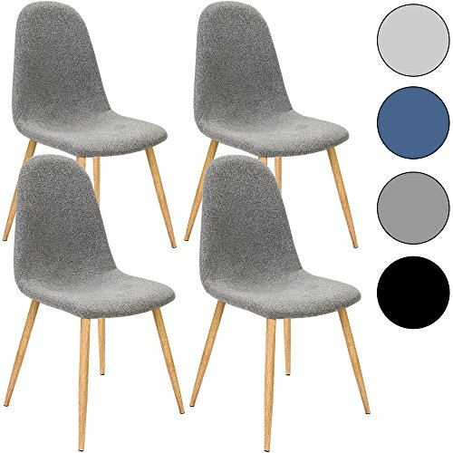 4x design stuhl mit stoffbezug dunkelgrau esszimmerst hle st hle designerstuhl k chenst hle. Black Bedroom Furniture Sets. Home Design Ideas
