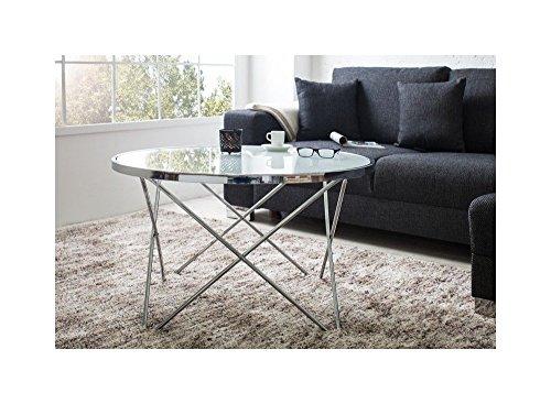 designer couchtisch 85 cm rund chrom in silber tisch. Black Bedroom Furniture Sets. Home Design Ideas