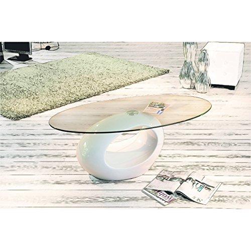 couchtisch wohnzimmertisch beistelltisch designer tisch rund in weiss hochglanz mit. Black Bedroom Furniture Sets. Home Design Ideas