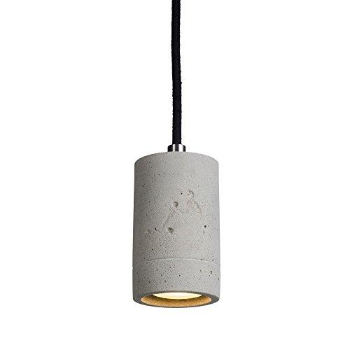 led pendelleuchte beton natur mit dimmbarem gu10 leuchtmittel von osram in warmwei 4 6w. Black Bedroom Furniture Sets. Home Design Ideas