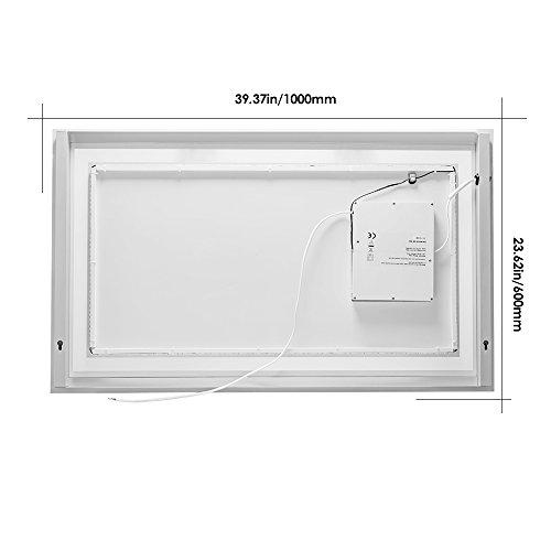 lebright led badspiegel spiegelleuchte 23w 100 60cm wandspiegel lichtspiegel mit schalter. Black Bedroom Furniture Sets. Home Design Ideas
