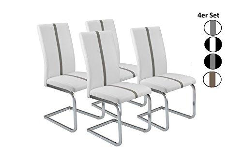 cavadore schwingstuhl 4er set enzo freischwinger ohne. Black Bedroom Furniture Sets. Home Design Ideas
