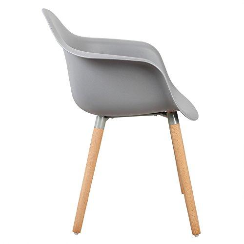 woltu bh37gr 2 esszimmerst hle 2er set esszimmerstuhl mit lehne design stuhl k chenstuhl holz. Black Bedroom Furniture Sets. Home Design Ideas