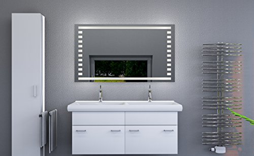 led beleuchteter badspiegel mit licht badezimmerspiegel mit led beleuchtung led spiegel bad. Black Bedroom Furniture Sets. Home Design Ideas