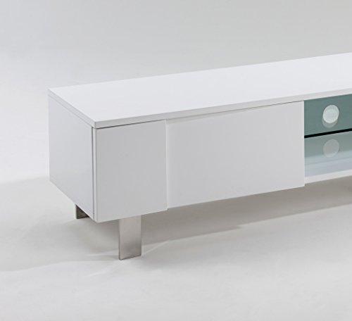 tv lowboard fernsehtisch fernsehschrank hifi rack tv board hochglanz wei weiss m bel24. Black Bedroom Furniture Sets. Home Design Ideas