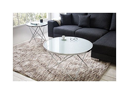 designer couchtisch 85 cm rund chrom in silber tisch beistelltisch repro art deko rund praxis. Black Bedroom Furniture Sets. Home Design Ideas
