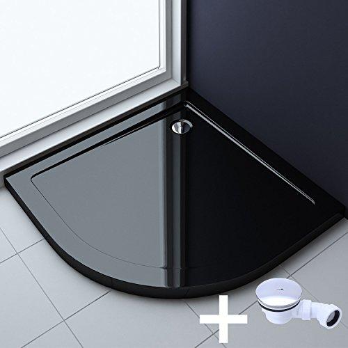 80x80x4 cm design duschwanne faro3b in schwarz inkl ablaufgarnitur al02 acrylwanne m bel24. Black Bedroom Furniture Sets. Home Design Ideas