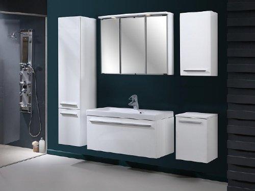 badm bel set atos wei hochglanz badm bel mit waschbecken 80 cm badm belset m bel24. Black Bedroom Furniture Sets. Home Design Ideas