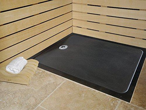 duschwanne 90 x 120 quartz schwarz absolute extra flach 3 cm m bel24. Black Bedroom Furniture Sets. Home Design Ideas