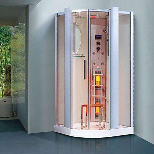 infrarotdampfdusche santorin infrarotkabine infrarot dampfdusche dampf sauna dusche. Black Bedroom Furniture Sets. Home Design Ideas