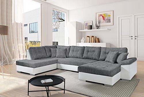 Sofa Couchgarnitur Couch Sofagarnitur SANTORINI 4 U Polstergarnitur Polsterecke Wohnlandschaft mit Schlaffunktion und Bettkasten Wohnzimmer Kinderzimmer Gästezimmer